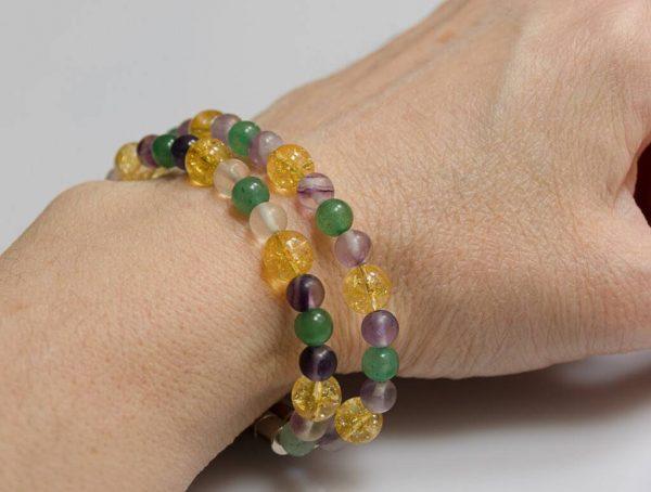 Náramek fluorit-citrín-aventurín * Bracelet from fluorite, citrine and aventurine