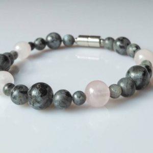 Náramek labradorit-růženín * Bracelet from labradorite and rose quartz