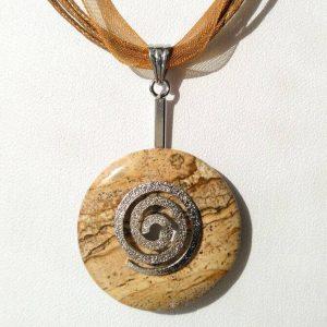 Náhrdelník s jaspisovým přívěskem * Jasper pendant necklace