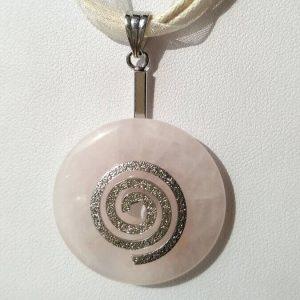 Náhrdelník s růženínovým přívěskem * Rose quartz pendant necklace