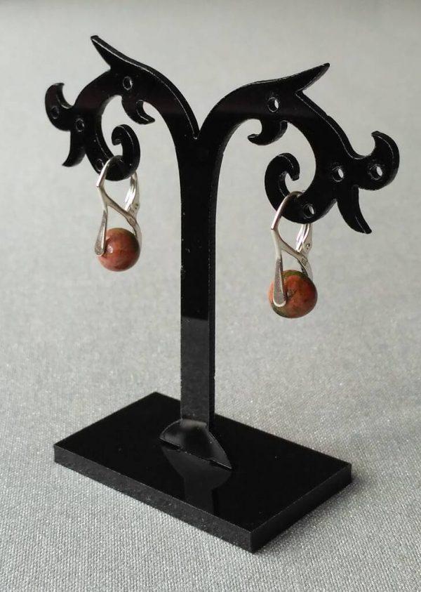 Náušnice unakit, stříbrné * Unakite earrings, silver