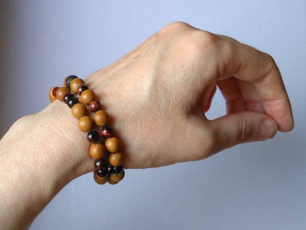 Náramek jaspis a tygří oko * Bracelet from jasper and tiger's eye