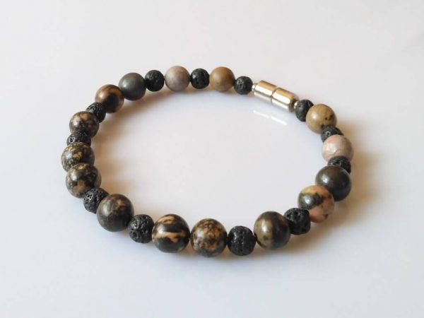 Náramek rodonit-láva * Bracelet from rhodonite and lava