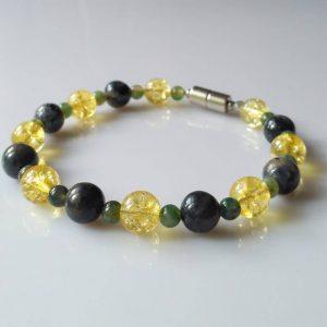 Náramek sodalit-citrín-jaspis * Bracelet from sodalite, citrine, jasper