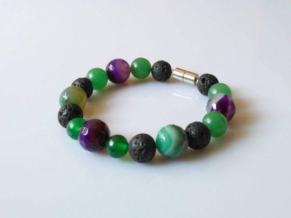 Náramek achát-avenurín-láva * Bracelet from agate, aventurine, lava