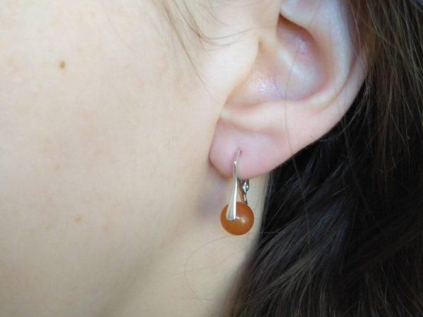 Náušnice avenurín, stříbrné * Aventurine earrings, silver