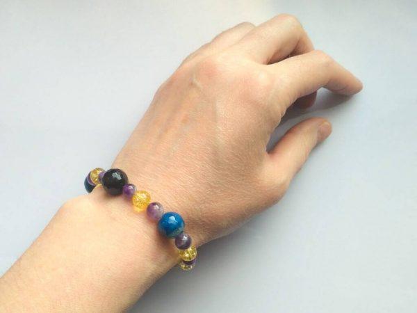 Náramek achát-ametyst-citrín * Bracelet from agate, amethyst, citrine