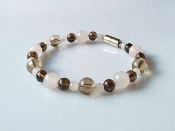 Náramek záhněda-růženín * Bracelet from smoky quartz and rose quartz