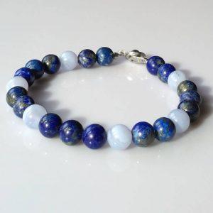 Náramek lapis lazuli-chalcedon * Bracelet from Lapis Lazuli and Chalcedony