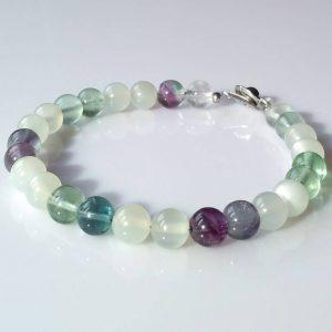 Náramek měsíční kámen-fluorit * Bracelet from Moon stone and Fluorite