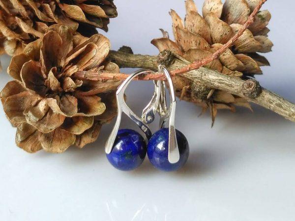 Náušnice lapis lazuli, stříbrné * Lapis lazuli earrings, silver