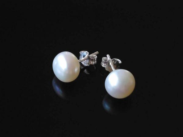 Perlové náušnice stříbrné * Pearl earrings silver