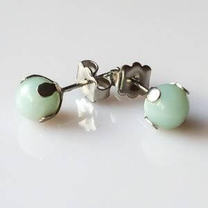 Náušnice amazonit puzety * Amazonite stud earrings