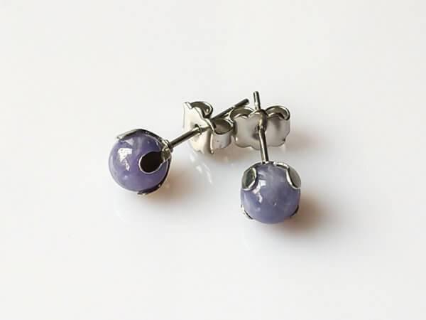 Náušnice tanzanit puzety * Tanzanite stud earrings