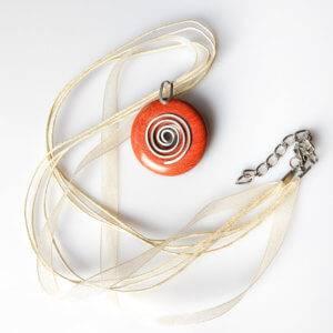 Náhrdelník s přívěskem jaspis červený * Red Jasper pendant necklace