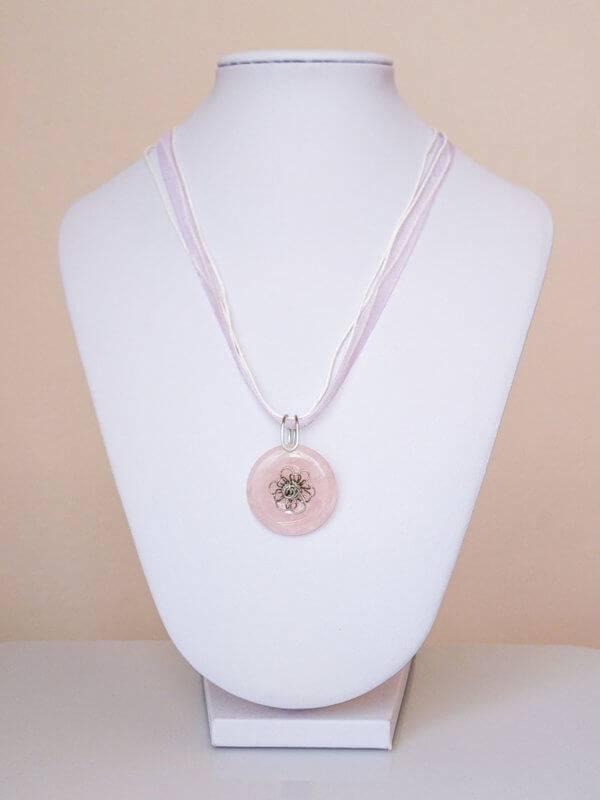 Náhrdelník s přívěskem růženín * Rose Quartz pendant necklace