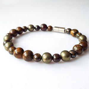 Náramek bronzit-pyrit * Bracelet from bronzite and pyrite
