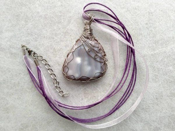Náhrdelník s přívěskem achát * Agate pendant necklace
