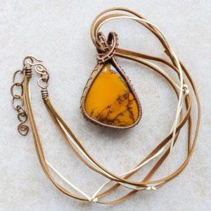 Náhrdelník měděný s mookaitem * Copper necklace with mookaite