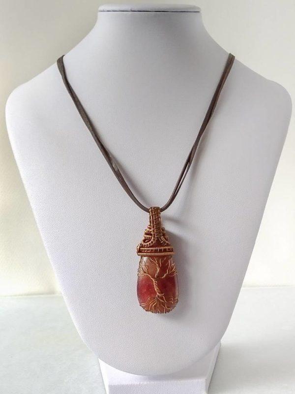 """Měděný náhrdelník """"strom života"""" * Copper necklace Tree of Life"""