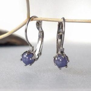Náušnice s tanzanitem * Tanzanite surgical steel earrings