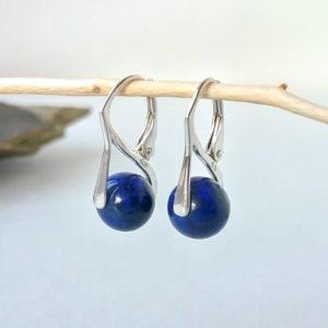 Náušnice lapis lazuli, stříbrné * Lapis lazuli silver earrings