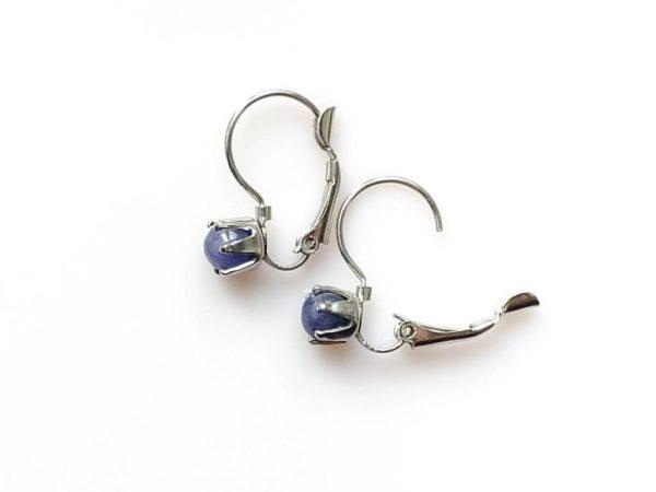 Náušnice s tanzanity * Tanzanite surgical steel earrings