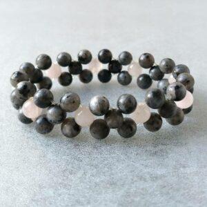 Náramek labradorit-růženín * Bracelet labradorite and rose quartz